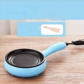 Multifunction Mini  Non-Stick Frying Pan Boiler Steamer Cooker Poached Eggpot(Blue single frying pan + wooden shovel)
