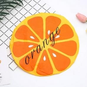 3 PCS Adult Lace Fruit Waterproof and Oily Shower Cap(Orange)