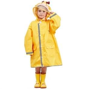 Kids Cartoon Animal Waterproof Jumpsuit Raincoat Boys Girls Children Rainwear Hooded Raincoat Suit, Size:L(Yellow)