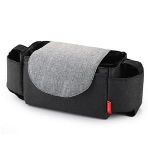 Baby Stroller Bags Large Capacity Mummy Nappy Bag Multifunction Travel Diaper Bag Maternity Nursing Hanging Storage Bag(Black)