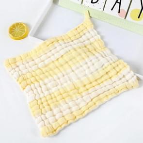 Baby Wash Bath Comfort Towel 6 Layer Gauze Baby Saliva Towel(Yellow)