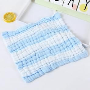 Baby Wash Bath Comfort Towel 6 Layer Gauze Baby Saliva Towel(Baby Blue)