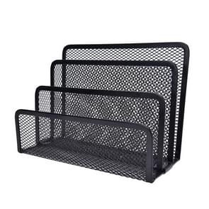 Mesh Letter Sorter Mail Document Tray Black Desk Office File Storage Rack