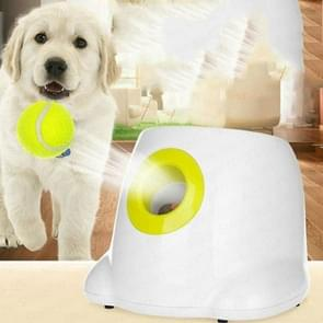 Dog Toy Tennis Automatic Tossing Ball Launcher Pet Training Tossing Ball(White)