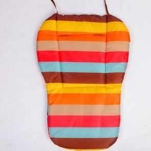 Baby Stroller Seat Baby Carriages Seat Pad Stroller Mat Accessory(Rainbow)