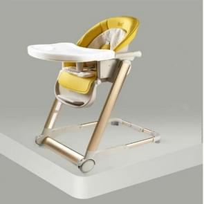 lx666 Baby Eating Chair Child Folding Portable Seat Baby Multi-function Kids Dining Table Seats(Yellow)