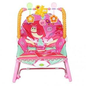 Plush Soft Multi-function Baby Leisure Rocking Chair With Music Baby Cradle Seat Baby Electric Rocking Chair(Pink)