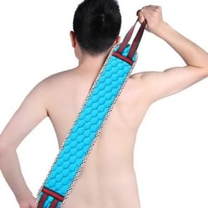 2 PCS Double Sided Brush Back Exfoliating Bath Towel Strap Bathroom Tool, Random Color Delivery