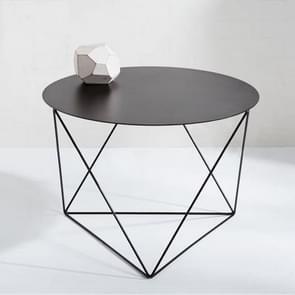 Minimalistische ijzeren kleine woonkamer in Noord-Europa ronde thee in de woonkamer moderne eenvoud salontafels (zwart)