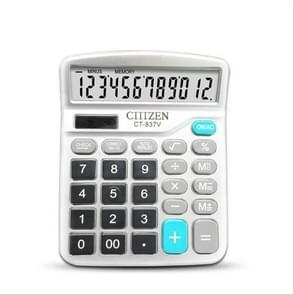 GTTTZEN Calculator CT837V 12-bit Solar Office Finance Dedicated Calculator