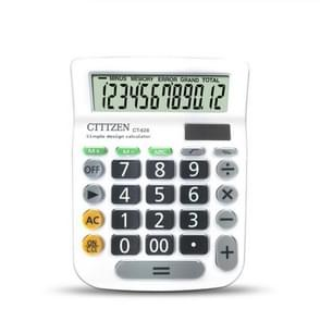 CT628 Color Button Calculator Mini Portable 12-bit Office Dual Power Calculator