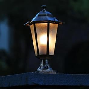 Outdoor Engineering Garden Courtyard Villa Door Pillar Lamp Wall Lighting without Light Source(Bronze)