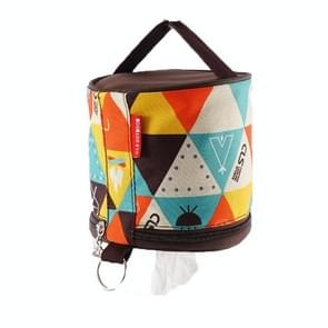 2 PCS Outdoor Camping Opvouwbare Pompbox Roll Paper Opbergtas (Nieuw patroon)