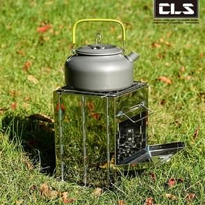 Stainless Steel Integrated Outdoor Folding Grill Charcoal Stove