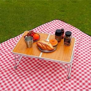 140x200 CM Camping Camping Moistureproof buiten picknick mat strandmat  specificaties (lengte * breedte): 140x200cm (picknick mat B rode Plaid)
