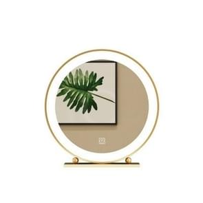 Gold Hotel Bedroom Bathroom Wall Hanging LED Lamp Holder Round Vanity Mirror, Size: Beaded mirror (LED light) 40CM