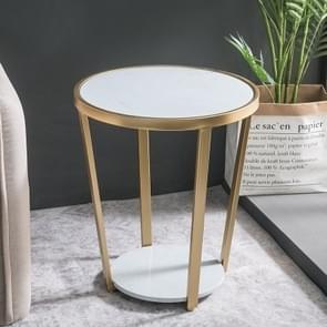 Household Living Room Sofa Iron Art Small Apartment Balcony Negotiate Small Tea Table, Colour: Inner Package(Black Jade Black )