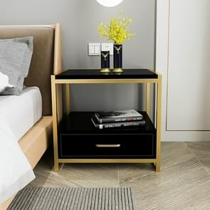 Simple Bedroom Mini Storage Locker Bedside Table, Color:A Black Piano Lacquer
