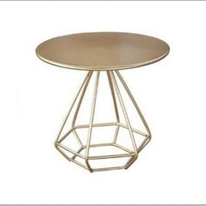 Iron art Meeting Light Luxury Bedroom Bedside Small Round Table, Size:60cm(Gold)