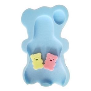 2 PCS Baby Infant Soft Bath Sponge Seat Cute Anti-Slip Foam Pad Mat Kids Safety Cushion Sponge Bathroom Products(Sky blue)
