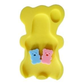 2 PCS Baby Infant Soft Bath Sponge Seat Cute Anti-Slip Foam Pad Mat Kids Safety Cushion Sponge Bathroom Products(Light yellow)