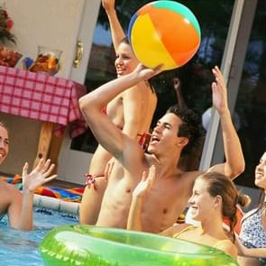 3 PCS Colorful Inflatable Ball Outdoor Beach Pool Water Toys, Random Color Delivery