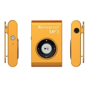 IPX8 Waterproof Swimming Diving Sports MP3 Music Player with Clip & Earphone, Support FM, Memory:4GB(Orange)