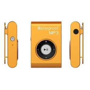 IPX8 Waterproof Swimming Diving Sports MP3 Music Player with Clip & Earphone, Support FM, Memory:8GB(Orange)