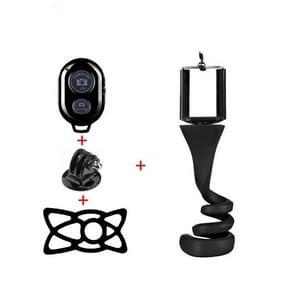 Lazy Mobile Phone Selfie Stick Tripod Creative Camera Bracket Desktop Bedside Multifunctional Phone Clip(Black)