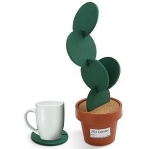 Nieuwigheid DIY cactus Coaster anti-slip isolatie thee pad Home opslag Desktop multifunctionele decoratie