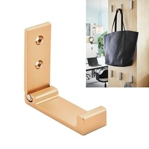 Collapsible Clothes Hanger Robe Hook Decorative Bathroom Wall Mounted Hooks(Golden Hook (Send Screw))