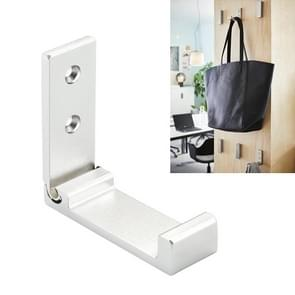 Collapsible Clothes Hanger Robe Hook Decorative Bathroom Wall Mounted Hooks(Silver Hook (Send Screw))