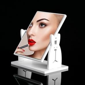 Desktop Cute Dressing Plastic Square Rotatable with Drawer HD Makeup Mirror( extra large cute rabbit without drawer )