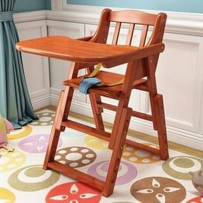 Baby High Chair Baby Feeding Eating Dinning Chair Wooden Portable Chair Foldable Adjust Height Seat(Peach Color)