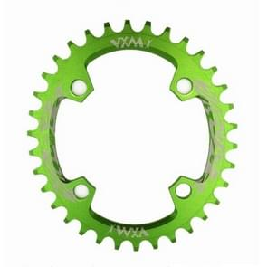 VXM  96BCD Aluminum Alloy Oval Round Chainring Chainwheel Road Bicycle ChainRing for M7000 M8000 M9000 Elliptic plate 34T(Green)