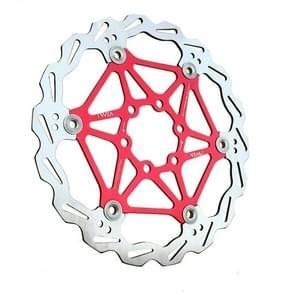 VXM Bicycle Mountain Bike Floating Brake Disc Brake 160mm(Red )