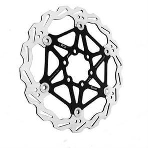 VXM Bicycle Mountain Bike Floating Brake Disc Brake 160mm(Black )