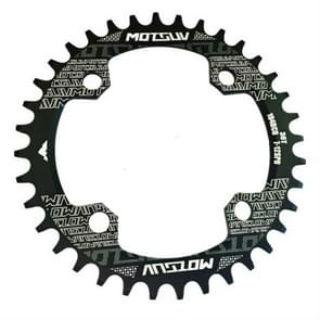 MOTSUV Round Narrow Wide Chainring MTB  Bicycle 104BCD Tooth Plate Parts Disk 36T(Black)