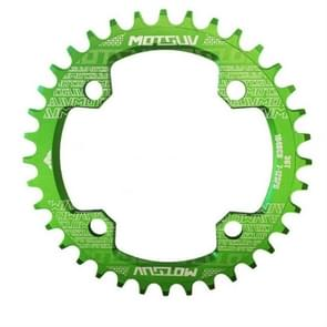 MOTSUV Round Narrow Wide Chainring MTB  Bicycle 104BCD Tooth Plate Parts Disk 38T(Green)