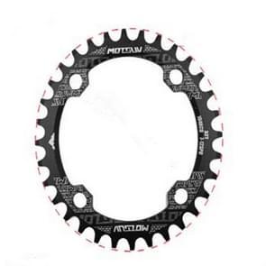 MOTSUV ronde smalle brede Chainring MTB fiets 104BCD tand plaat onderdelen elliptische plaat 32T (zwart)