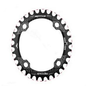 MOTSUV Round Narrow Wide Chainring MTB  Bicycle 104BCD Tooth Plate Parts Elliptic plate 34T(Black)