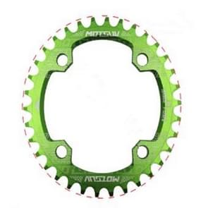 MOTSUV Round Narrow Wide Chainring MTB  Bicycle 104BCD Tooth Plate Parts Elliptic plate 38T(Green)