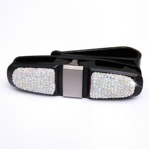 Diamond Mounted Rotating Car Glasses Clip Card Paper Holder Clips(AB Color )