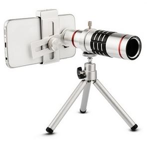 Outdoor Telescope Mobile Phone Accessories Shooting Telephoto Lens with Universal Metal Clip( 18X)