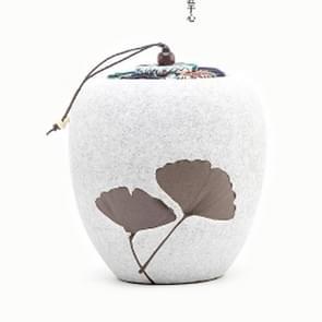 Elegant Creative Stoneware Black Tea Green Tea Teapot Sealed Piggy Bank(White )