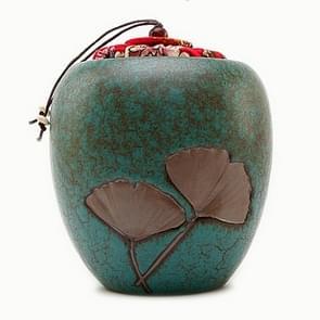 Elegant Creative Stoneware Black Tea Green Tea Teapot Sealed Piggy Bank(Blue )