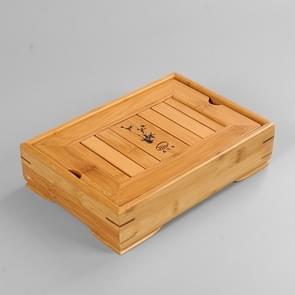 Bamboo Small Water Tea Tray Water Storage Kungfu Tea Set Hotel Tea Table, Size: 26.5*18.5*6.5cm