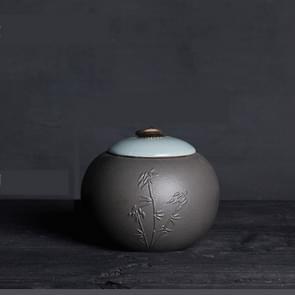 Creative Large Ceramics Tea Sealed Jar Wrapped Gift Storage Tea Box(Bamboo)