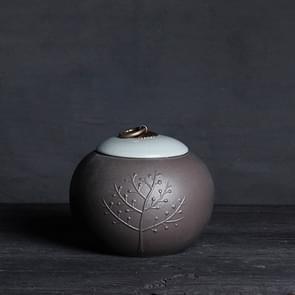 Creative Large Ceramics Tea Sealed Jar Wrapped Gift Storage Tea Box(Linden)