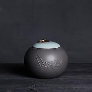 Creative Large Ceramics Tea Sealed Jar Wrapped Gift Storage Tea Box(Pine)